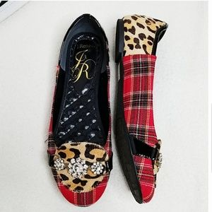 J. Renee Plaid and Leopard Dolle Flats